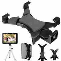 1X Tablet Tripod Mount Clamp Support Stand Holder Bracket Fit Selfie Stick