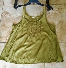 KLEEN WOMENS CLOTHING SPAGHETTI STRAP PRAIRIE TANK XL