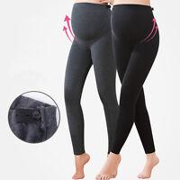 Women PREGNANCY Adjustable Waist Comfortable Maternity Cotton Leggings Size 6-14