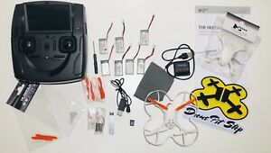 Hubsan X4 H107D  Mini Quadcopter USED With Extra Parts & Case !Read Description!