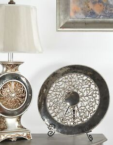 """Large 20""""DIA Glam Plate Charger on Stand Decorative Table Top Home Decor Accent"""