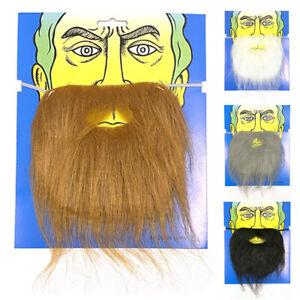 Fake Beard Moustaches Funny Halloween Costume Party Santa Facial Hair 4 colours