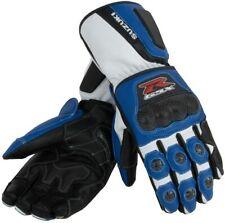 Suzuki GSXR Motorbike Racing Leather Gloves ALL SIZES
