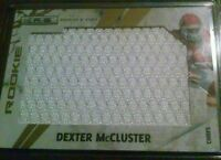 Dexter McCluster SSP /25 jersey RC 2010 Panini Gold Memorabilia #267 Chiefs