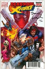 DEADPOOL VS X-FORCE #1 DF DYNAMIC FORCES SIGNED SWIERCZYNSKI COA MARVEL MOVIE