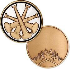 Deputy Fire Chief Bugle - Bronze FireFighter Challenge Coin