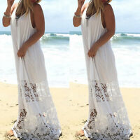 HOT Womens Maxi Boho Floral Summer Beach Long Skirt Evening Cocktail Party Dress