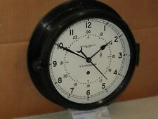 """CHELSEA SHIPS/MILITARY CLOCK~U.S.NAVY~8 1/2"""" DIAL~1984~12/24 HR DIAL~RESTORED"""