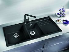 Blanco NAYA8SK5 1 and 1/2 Bowl Right Hand Drainer Sink