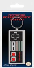Nintendo NES Controller Official Rubber Keyring Chain Grey Retro Game Console