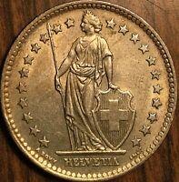 1963 SWITZERLAND 2 FRANCS HELVETIA COIN PIÈCE DE SUISSE