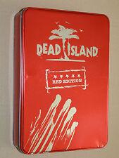 DEAD ISLAND RED EDITION Metal Case Steelbook Xbox 360 rare NO GAME EMPTY BOX