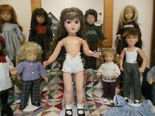 R and B Hard Plastic 20 Inch Doll for Restoration