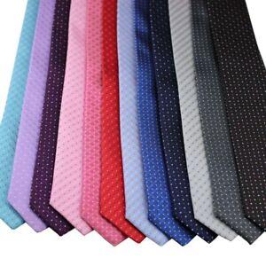 Coachella Ties Check/polka dots Necktie Jacquard Woven Microfiber Skinny Tie 7cm