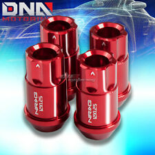 4 X NRG M12 X1.25 ALUMINUM RACING 12PT LUGNUT/RIM LOCK FOR MIT CHRYSLER RED