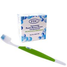 FDC & Silicone Toothbrush ~ Flexible Denture Cleaner Sachets & Soft Brush