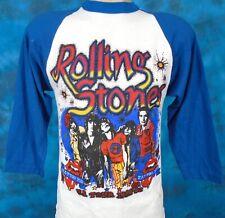 vintage 80s Rolling Stones Concert Jersey T-Shirt Xs/Small rock raglan tour