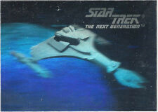 TC Star Trek TNG Inaugural Hologram Card 02H Klingon Glass Attack Cruise