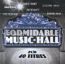 Formidable Music-Hall : Edith Piaf, Tino Rossi, Mistinguett, Barbara ... (2 CD)
