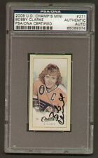 Bobby Clarke signed auto 2009 UD Champs Mini PSA Slab