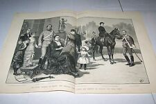#00-0088 3/3/1883 ANTIQUE PRINT (GERMANY) - SILVER WEDDING - PRINCE - PRINCESS