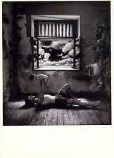 Father + Infant Son• Photo by Jan Saudek•Stripped Room•Bare•POSTCARD