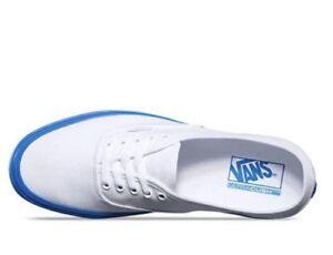 VANS AUTHENTIC LITE SHOES Men's Size US 10 White Blue POP Soles NWT $119.95