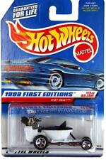 1998 Hot Wheels #648 First Edition #13 Hot Seat (blue car card) malaysia base