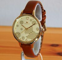Ladies Radley London Ormond Scottie Gold Dog Tan Leather Strap Watch-RRP £99.NEW