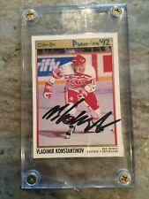 Vladimir Konstantinov 1991/92 OPC Premier RC Red Wings Autograph