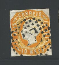 PORTUGAL Sc13 SG28 Used 1862-64 10r org King Luiz SCV$40