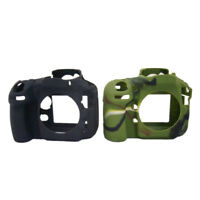 Silicone Armor Skin Case Camera Cover Protector Bag For Nikon D810 Black/ Camou