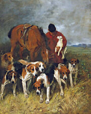 Emms John The Huntsman And His Hounds Hounds Huntsman Dogs Hunting  Canvas Art