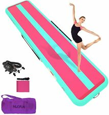 """New listing 16ft Inflatable Tumbling Mat Gymnastics Training Mat Home Gym Floor 8"""" Thick 8in"""