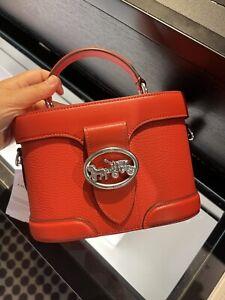 NEW Coach 5503 Georgie Gem Crossbody - RED Bag Purse