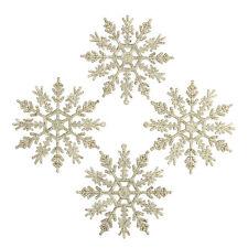 12 Stk Schneeflocken Xmas Tree Weihnachtsschmuck Ornamente Gold Schneeflocke