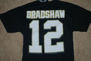 NEW Majestic Hall of Fame #12 Terry Bradshaw NFL Jersey Shirt (Medium)