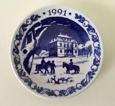 1991 Royal Copenhagen Denmark Mini Plate or Plaque - Eremitage Castle