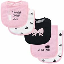 Hudson Baby Girl Bib and Burp Cloth Set 5-Piece, Dinner Date