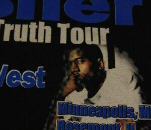 USHER KANYE WEST Concert TOUR 2004 Music Black T Shirt FREE Shipping size Medium