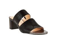 Isaac Mizrahi Live! Leather Double Strap Slide Sandals PICK SIZE & COLOR new