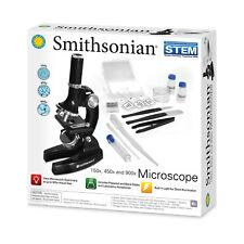 Smithsonian Microscope Kit STEM Science Biology Toys Kids Gift Storage Case Set