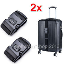 2 Stk Koffergurt mit Zahlenschloss Gepäckband Kofferband Gepäckriemen Gepäckgurt