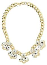 Banana Republic Crystal Teardrop Fan Link Statement Necklace NIP $145