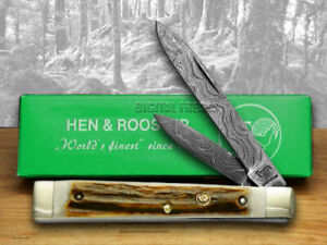 Hen & Rooster Stag Damascus Doctor 1/300 Knife 875DAM/DS Knives