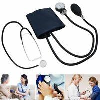 Sphygmomanometer Arm Blood Pressure Monitor BP Cuff Stethoscope Machine Kit New