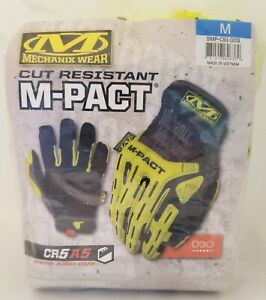 Mechanix Wear - Cut-Resistant Impact Gloves Hi-Viz M-Pact E5 - 180 CUT - NEW M