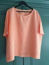 Ladies 'AMERICAN VINTAGE' Linen Orange Oversized Top