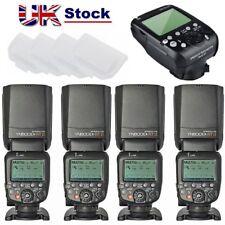 Yongnuo 4X YN600EX-RT II Speedlite Flash + YN-E3-RT Trigger for Canon Camera UK