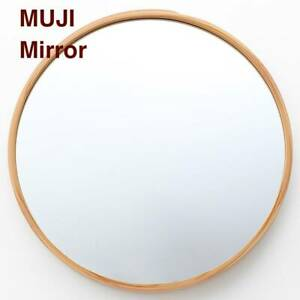 MUJI Traditional hand made mirror made by Natural Akita Japan cedar 200years old